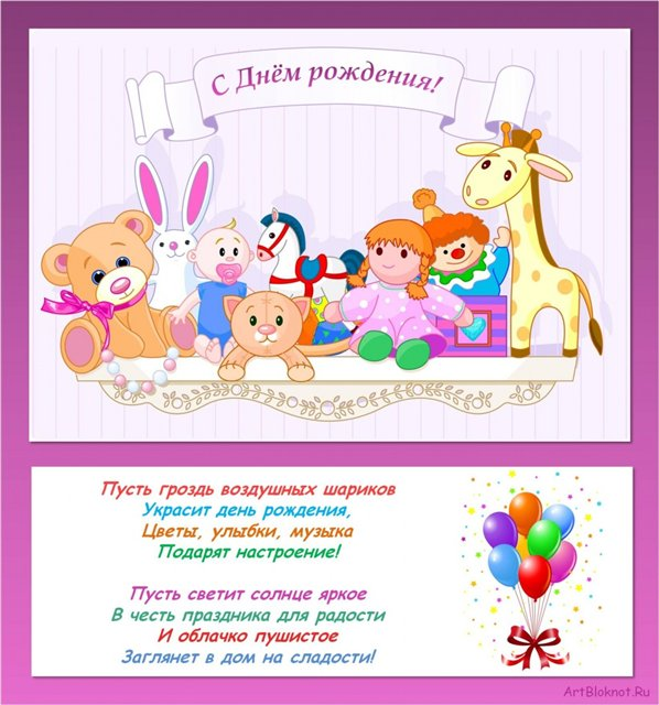 Картинки поздравления с днем рождения детей